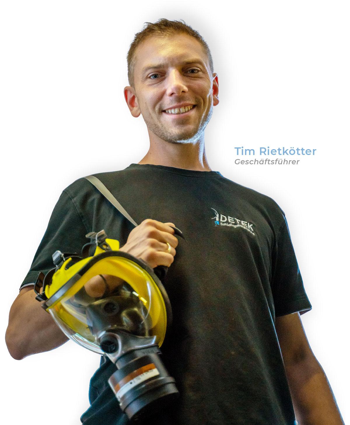 Tim Rietkötter, Geschäftsführer DETEk Schädlingsbekämpfung GmbH